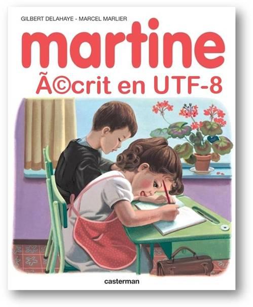 martine  u00e9crit en utf8